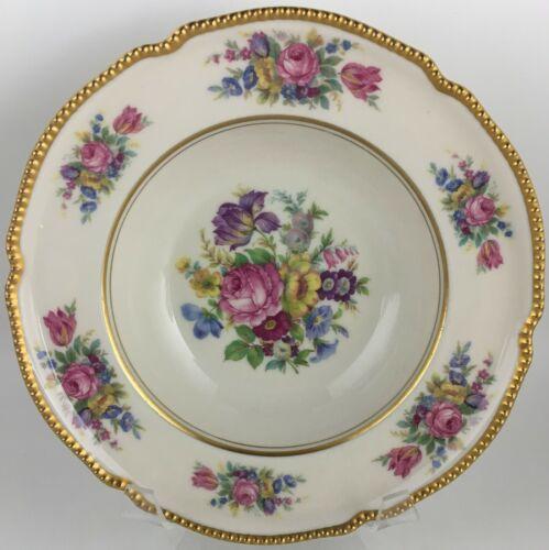 Castleton Rose Rimmed soup bowl