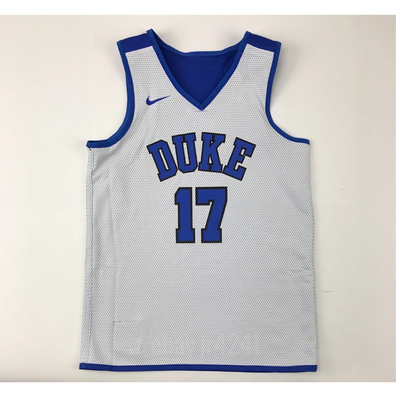 9433ed820cc7 New Nike Boy s M Duke Blue Devils Elite Reversible Basketball Jersey Blue  White