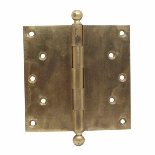 6 x 6 Corbin Harvard Cast Brass Butt Antique Door Hinge