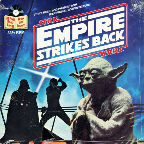 Star Wars: The Empire Strikes Back (Read Along Book & 33 Record) VINTAGE, SEALED
