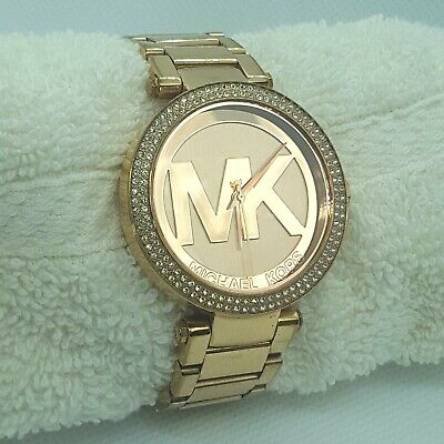 Michael Kors Women's Parker MK5865 Rose-Gold Stainless-Steel Fashion Watch