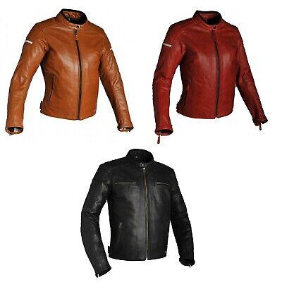 30% aus Richa Damen Daytona Büffelleder Retro Vintage Motorrad Jacke - Retro Daytona Leder