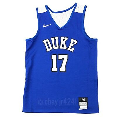 72b2e53aab94 New Nike Boy s M Duke Blue Devils Elite Reversible Basketball Jersey Blue  White