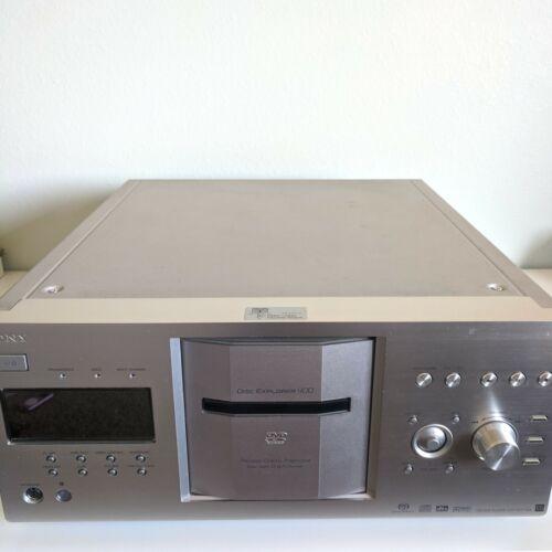 Sony DVP-CX777ES 400 Disc Cd/ DVD/ SACD Silver Player Carousel Changer
