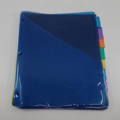 8 Colorful Plastic Dividers - Euc