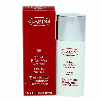 CLARINS TRULY MATTE FOUNDATION LIGHT REFLECTING OIL-FREE SPF15 30ML #08 D-400891