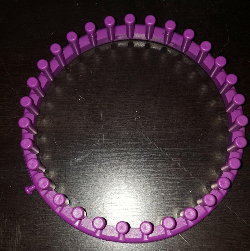"""7"""" Purple Round 31pegs KNITTING LOOM, PLASTIC,"""