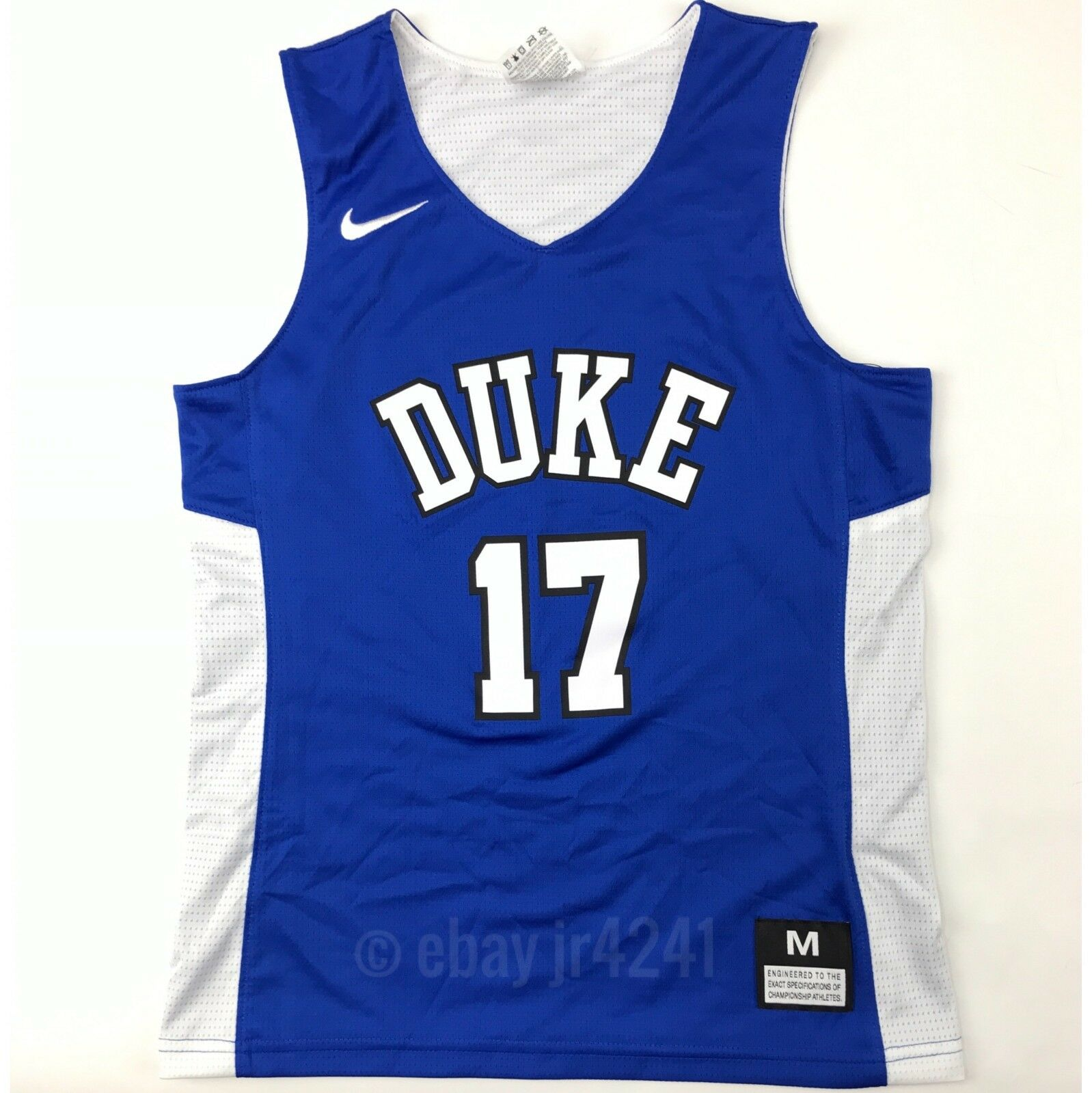 08fd51e2a New Nike Boy s M Duke Blue Devils Reversible Basketball Jersey Blue White   17