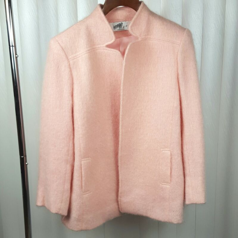 Vintage IMAGES by I&A Pink Wool Coat Jacket Made in USA M/L