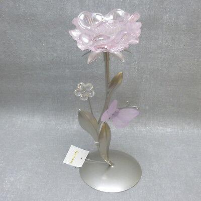 Rosa Vintage Tee (Formano  Teelichthalter Blüte rosa  Metall 28 cm  edel modern Vintage Geschenk )