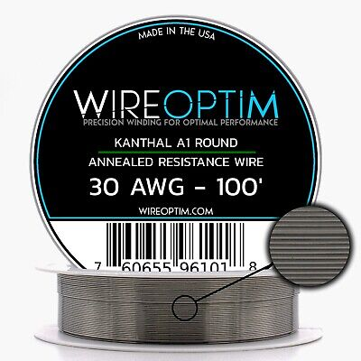 30 Gauge Awg Kanthal A1 Wire 100 Length - Ka1 Wire 30g Ga 0.254 Mm 100 Ft
