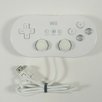 Official Genuine OEM Nintendo Wii Classic Controller RVL-005, White *Authentic