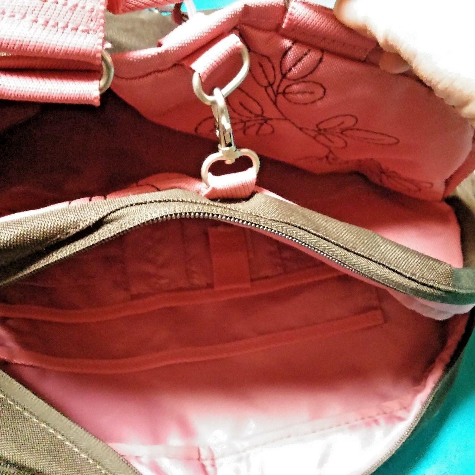 AMERICAN TOURISTER Overnighter Laptop Carry-on Brown Pink Shoulder Bag EUC