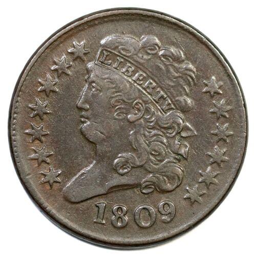 1809 C-3 Classic Head Half Cent Coin 1/2c