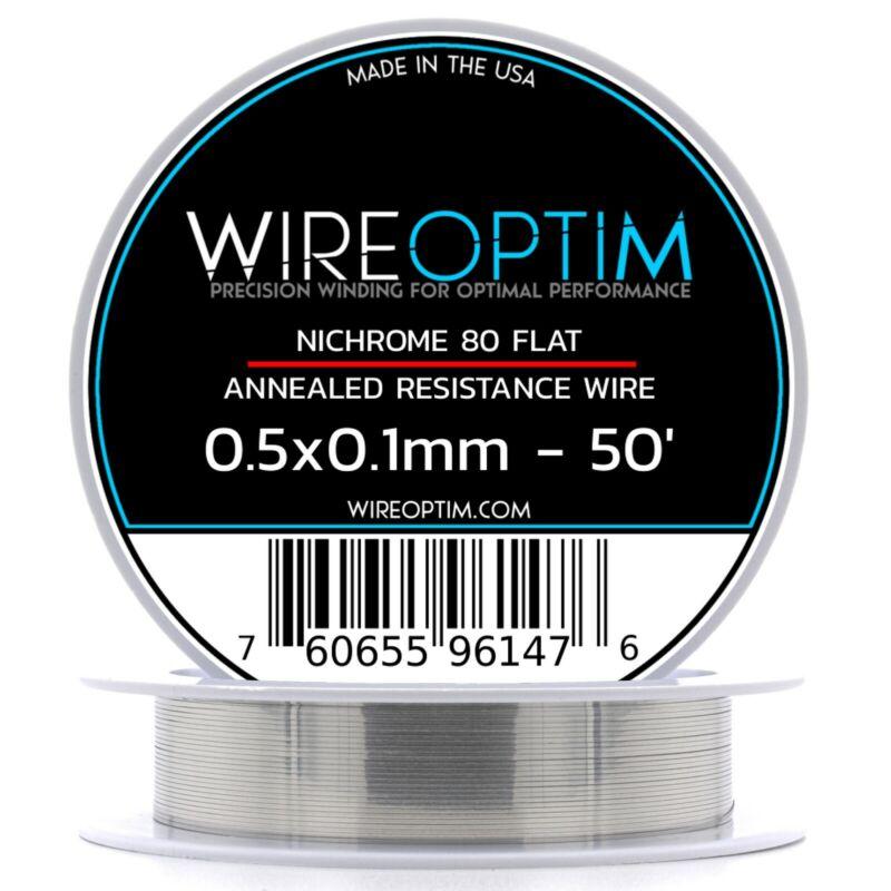 0.5 x 0.1 mm Nichrome 80 Flat Ribbon Resistance Wire - 50