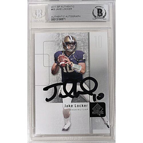 Jake Locker UW Huskies Signed 2011 SP Authentic Football Card Beckett Autograph