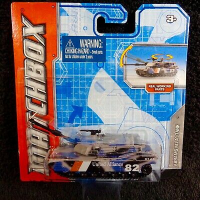 Matchbox 2011 Real Working Rigs - Abrams M1A1 Tank Army Military Gray Camo ~ NEW
