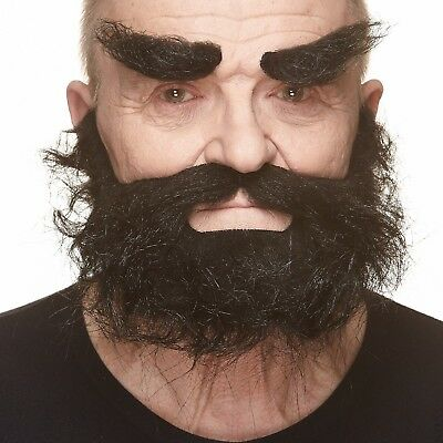 High quality Realistic Traper fake, self adhesive beard, mustache and eyebrows - Fake Moustache And Beard