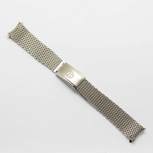 Original Favre-Leuba Mesh Diver Armband 18mm Rare HC Schweizer Bathy Vintage