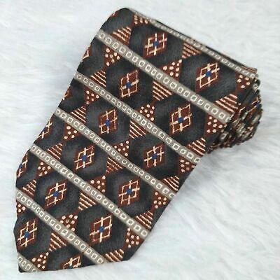 Vintage GUESS Tie Necktie Art Deco Geo Print 100% Silk USA  Guess Print Tie