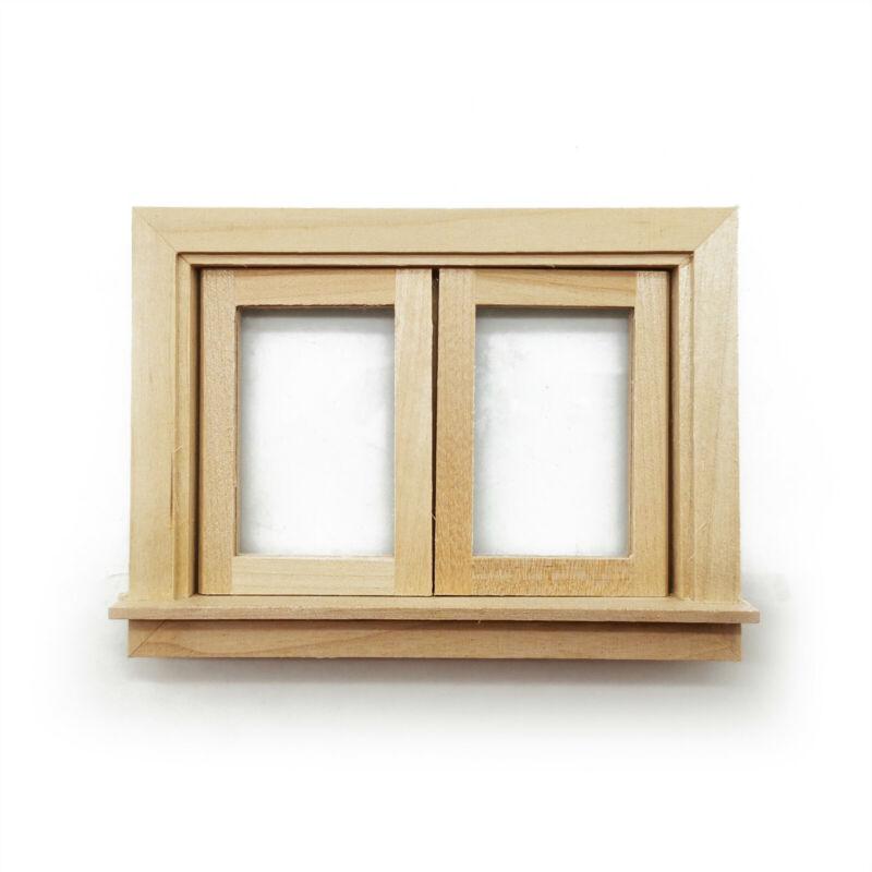 Dollhouse Furniture Wooden Small Window 1:12 Miniature DIY Accessories