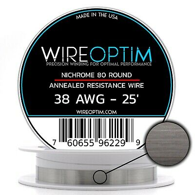 38 Gauge Awg Nichrome 80 Wire 25 Length - N80 Wire 38g Ga 0.10 Mm 25 Ft
