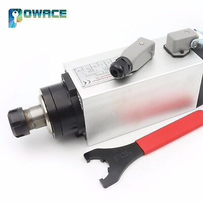4kw 220v Square Air Cooled Spindle Motor Er25 18000rpm 300hz Cnc Router Machine