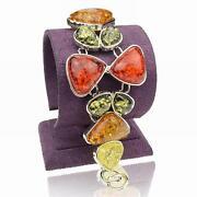 Silver Amber Bracelet