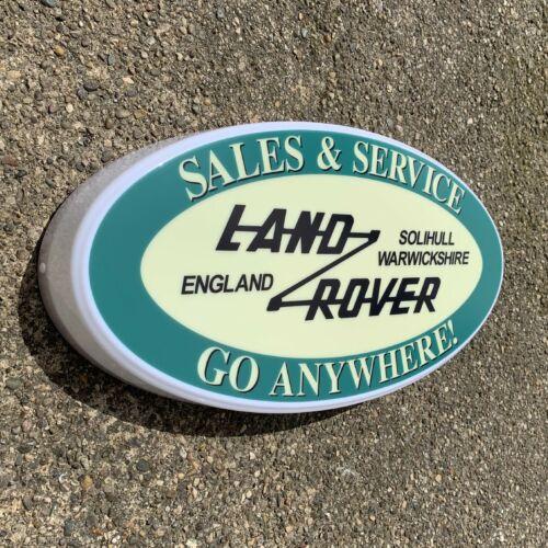 LAND ROVER SALES & SERVICE 4X4 CAR LOGO LED LIGHT GARAGE SIGN PETROL GASOLINE