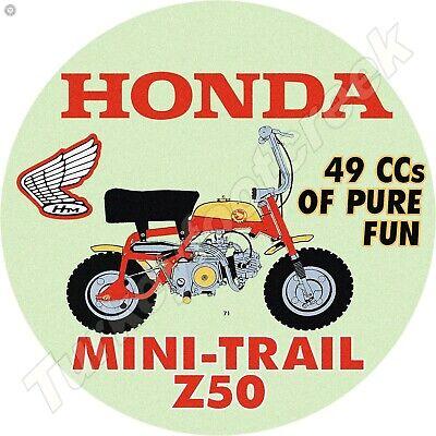 HONDA MINI TRAIL Z50 11.75in ROUND METAL SIGN