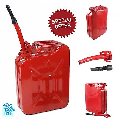 Jerry Can 5 Gallon 20l Gas Gasoline Fuel Army Nato Military Metal Steel Tank Red