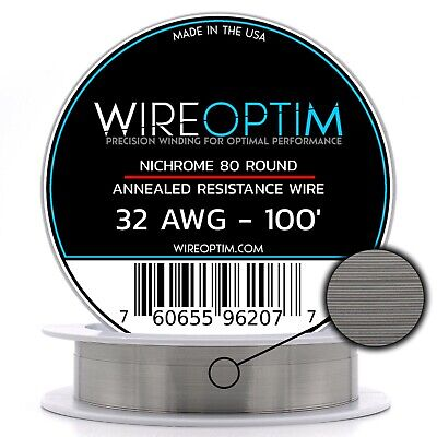 32 Gauge Awg Nichrome 80 Wire 100 Length - N80 Wire 32g Ga 0.20 Mm 100 Ft