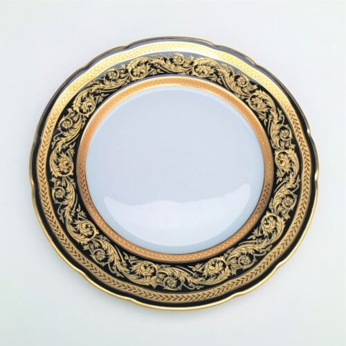 Vendome by Bernardaud Bread & Butter Plate - Gold Encrusted with Cobalt