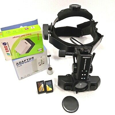 Wireless Led Indirect Ophthalmoscope With Accessories Carry Bag Free Shipping