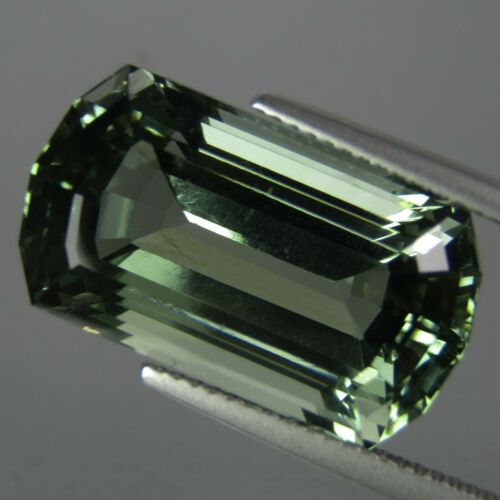 18.32Cts Bellyful t Natural Green Amethyst (prasiolite) Rectangular Cut Ref VDO