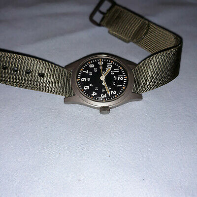 Vintage Hamilton US Military 46374B Field Wrist Watch Mar '81