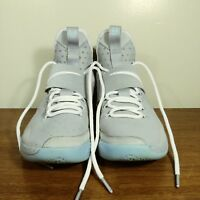 56b29ffd0af3 NIKE Lebron XIV Marty McFly Back to the Future 852405-005 Silver Blue MAG  8.5