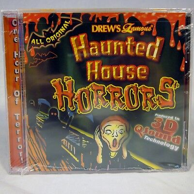Halloween-sounds, Horror Musik (NEW Drews Famous Haunted House Horrors CD in 3D Halloween Sounds NIP)
