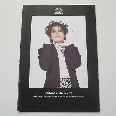 QUEEN Official Fan Club Magazine 1991 Special Freddie Mercury Tribute Issue