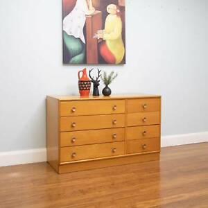 Retro Vintage 8 Drawer Chest of Drawers / Sideboard / TV Unit