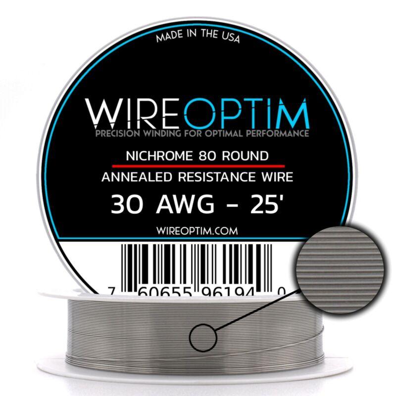 30 Gauge AWG Nichrome 80 Wire 25