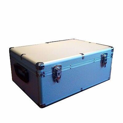 New 510 CD DVD Silver Aluminum Like Case Media Storage Holder w/ Hanger Sleeves
