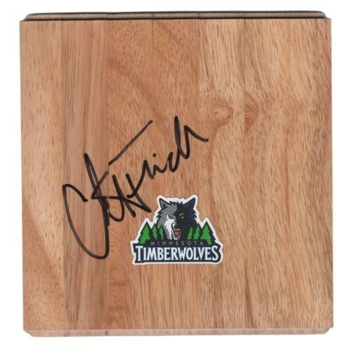Chris Finch Minnesota Timberwolves Signed Basketball Floor Board Proof Autograph