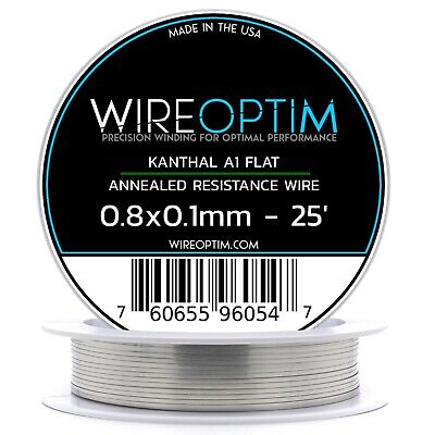 0.8 X 0.1 Mm Kanthal A1 Ribbon Flat Resistance Wire 25 - 25 Ft