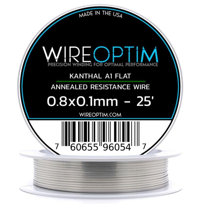 0.8 x 0.1 mm Kanthal A1 Ribbon Flat Resistance Wire 25