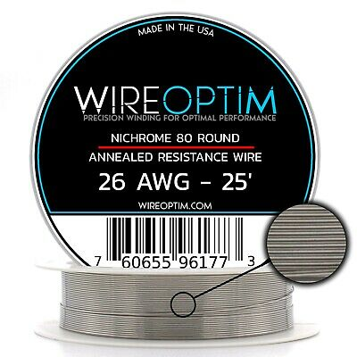 26 Gauge Awg Nichrome 80 Wire 25 Length - N80 Wire 26g Ga 0.40 Mm 25 Ft