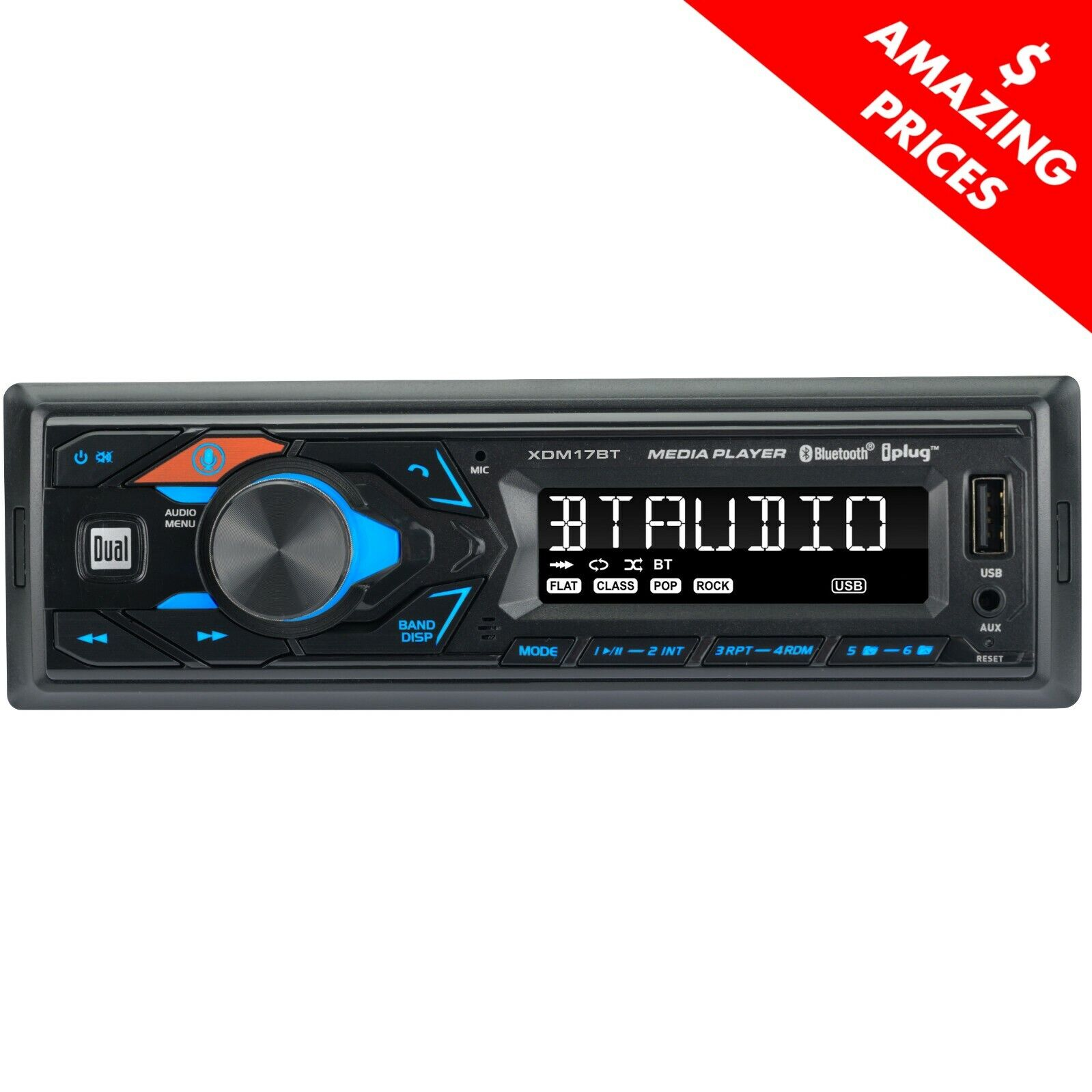 hd lcd single din car stereo receiver