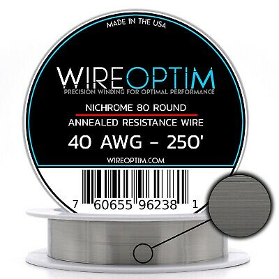 40 Gauge Awg Nichrome 80 Wire 250 Length - N80 Wire 40g Ga 0.08 Mm 250 Ft