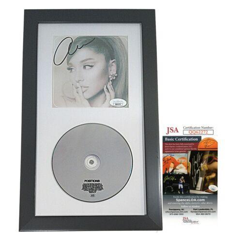 Ariana Grande Signed Positions Framed CD JSA Authentic Autograph Cert COA