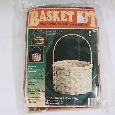 Basket Making Kit Traditional Round With Handle Jadvick